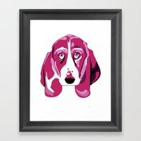 Hound Dog Framed Art Print
