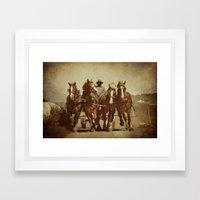 Team Of Horses Framed Art Print