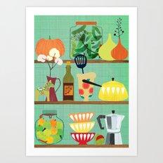 kitchen shelf 02 Art Print