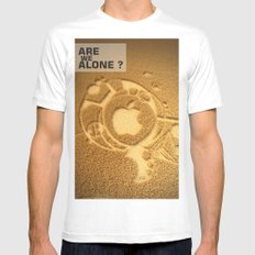 Are we alone ? White Mens Fitted Tee SMALL