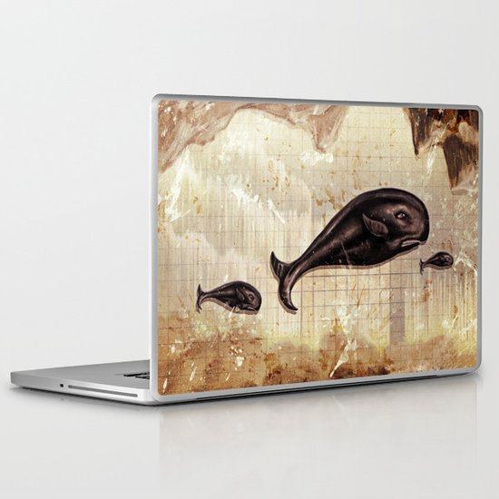 paper II :: whales/ships (red) Laptop & iPad Skin