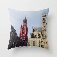 Colorful  Churches Throw Pillow