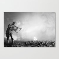 Peace Army Print Canvas Print