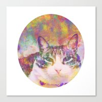 Dog, The Cat Canvas Print