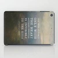 II. Anything essential is invisible to the eyes. iPad Case