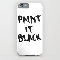 iPhone & iPod Case featuring Paint It Black by Mariah Williams