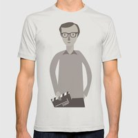Woody Mens Fitted Tee Silver SMALL