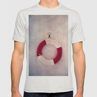 Help Me! Mens Fitted Tee Silver SMALL