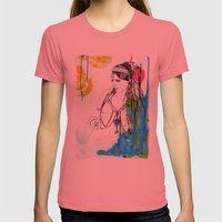 Tribal Beauty 6 Womens Fitted Tee Pomegranate SMALL