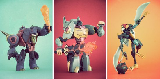Dinobots Art Print