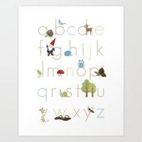 Woodland Alphabet Art Print