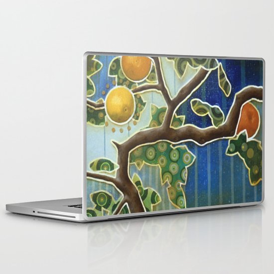 orange tree Laptop & iPad Skin