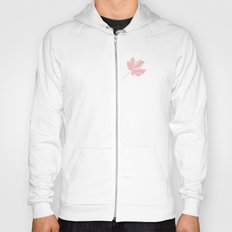 Horse Chestnut leaf and conker pale pink pattern Hoody