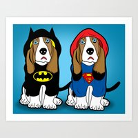 dogs Art Prints featuring dogs by mark ashkenazi