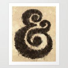 Ink Ampersand Art Print