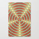 Retro Ripples Canvas Print