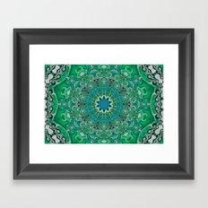 Turquise Spin Framed Art Print
