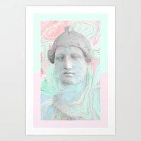 Papier marbré Art Print