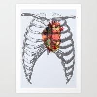 Ribcage Art Print