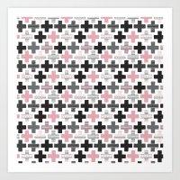 Geometric Cross Illustra… Art Print
