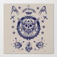 SAILORNAVY SKULL Canvas Print