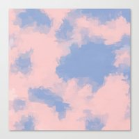 BLOSSOMS - ROSE QUARTZ / SERENITY 3 Canvas Print