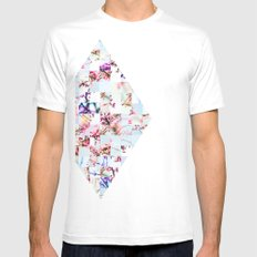 Spring Stitch White Mens Fitted Tee SMALL