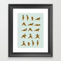 Yoga Bear! Framed Art Print