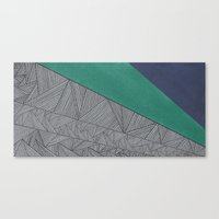 Black, Turquois, Dark Bl… Canvas Print