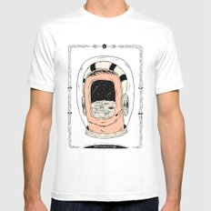 From the Earth to the Moon SMALL White Mens Fitted Tee