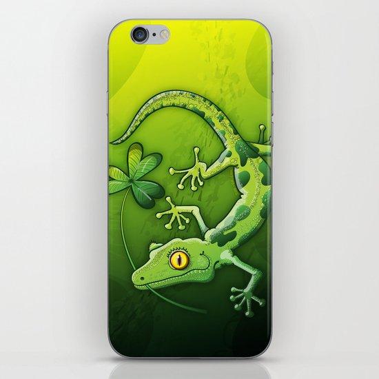 Saint Patrick's Day Gecko iPhone & iPod Skin