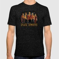 Space Cowboys Mens Fitted Tee Tri-Black SMALL