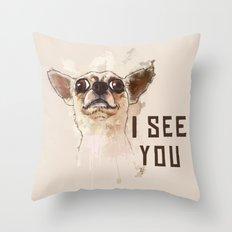 Funny Chihuahua Illustra… Throw Pillow