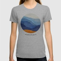 Mountains In The Morning Womens Fitted Tee Athletic Grey SMALL