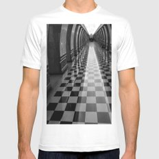 Moscow Metra White Mens Fitted Tee SMALL