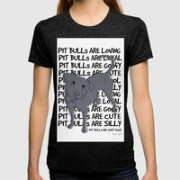 Pit Bulls Are.. Womens Fitted Tee Tri-Black SMALL