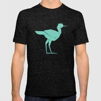 Origami Stork Mens Fitted Tee Tri-Black SMALL