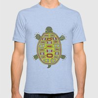 Tiled Turtle Mens Fitted Tee Tri-Blue SMALL