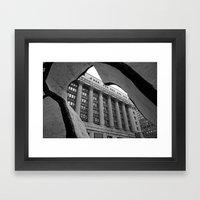 Looking Through A Buildi… Framed Art Print