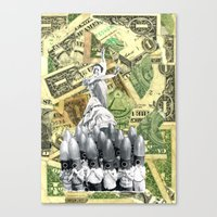 It's A Cruel World, Mone… Canvas Print