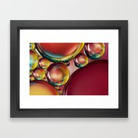 Abstract Oil Drops III Framed Art Print