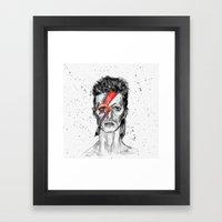 Vampire Bowie Framed Art Print