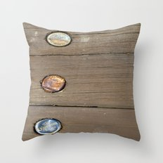 Bottle caps  Throw Pillow