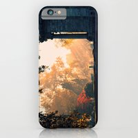 iPhone & iPod Case featuring Fall morning at Green Lawn by Wood-n-Images