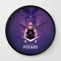 Pitch Black - Badass Rid… Wall Clock