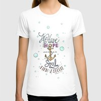 Hebrews 6:19 Womens Fitted Tee White SMALL