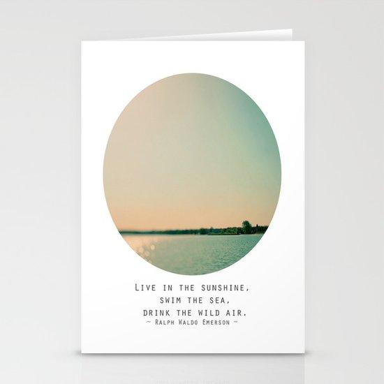 Swim The Sea Stationery Card