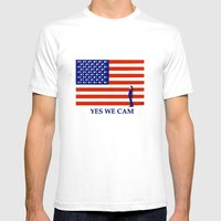 Yes We Cam Mens Fitted Tee White SMALL