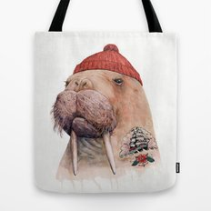 Tattooed walrus Tote Bag