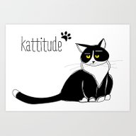 Kattitude Art Print